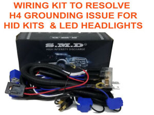 Details about H4 Headlight Relay Wiring Harness 2 or 4 Headlamp for on