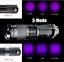 Portable-Mini-UV-Ultra-LED-Zoom-Flashlight-Violet-Purple-Blacklight-Torch-Lamp thumbnail 1