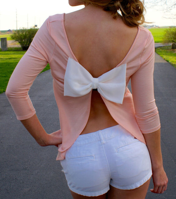 Sexy Backless Summer Fashion Women Casual Long Sleeve Chiffon Blouse Shirt Tops