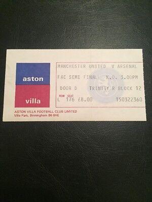 RMT reproduction 1957 ASTON VILLA MANCHESTER UTD fa cup final ticket