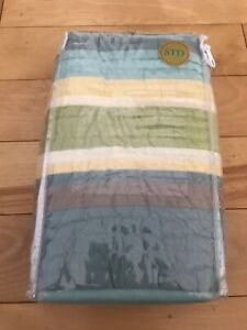 Company C Quilted Standard Pillow Sham Outer Banks Quilt Aqua 20x27 - Brand New