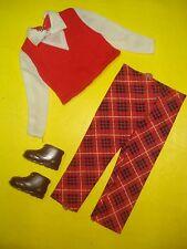 Vtg Barbie KEN 70s Best Buy Doll Clothes Lot PLAID SEARS Set 1974