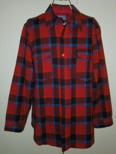Pendleton Flannel Check Button Up Wool Flannel Shi