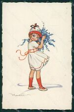 Castelli Girl ABRADED Degami serie 675 postcard cartolina QT6644