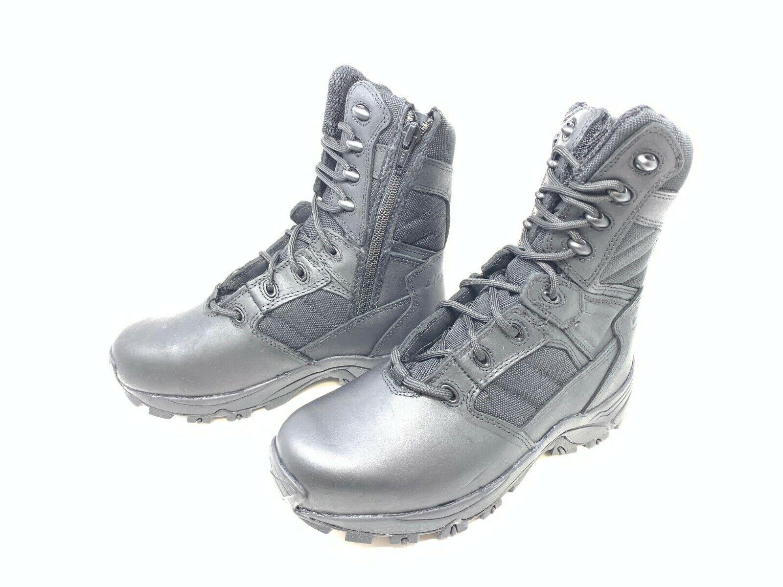 Para Hombre Corcoran (CV5000) 8  No Metálicos Negro Cremallera Lateral botas Tácticas (G1-6)