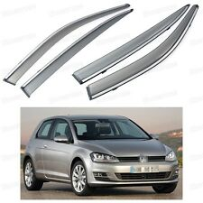 Front & Rear Window Visor Deflector Vent Shade for Volkswagen Golf 2013-2015 MK7