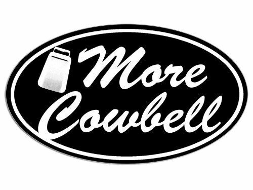 SNL Bumper Drummer Musician Music 3x5 inch Black Oval More Cowbell Sticker