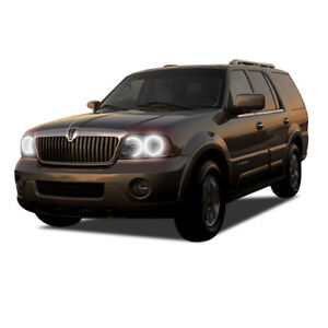 Details About Bright White Led Headlight Halo Ring Kit For Lincoln Navigator 03 06