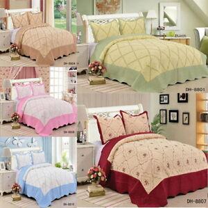 matelasse-brode-couvre-lit-set-dessus-lit-avec-2-Couvre-oreillers