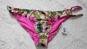BNWT-Ladies-size-20-floral-bow-tie-sides-Bikini-Taniki-Bottoms-Swim-Brief