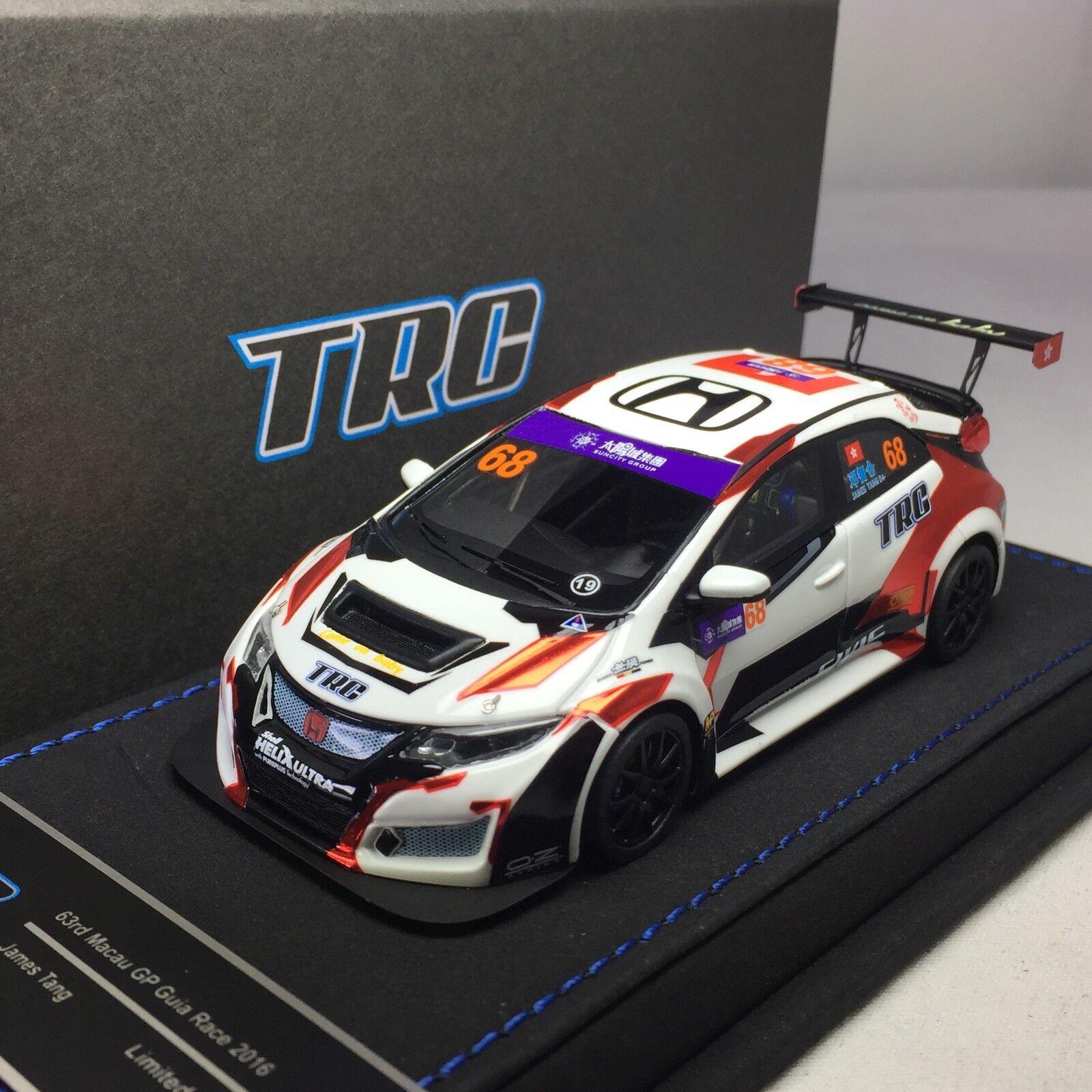1/43 Peako TRC Honda Civic FK2 Coche De Carreras Tcr Wtcc Macau Grand Prix 2018
