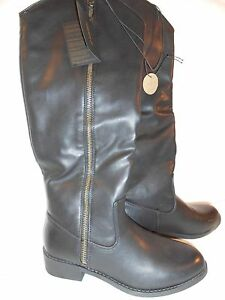 dca68105572 Details about Forever 21 Women's Black Tall Zip Up Boots NWT Sz 6.5