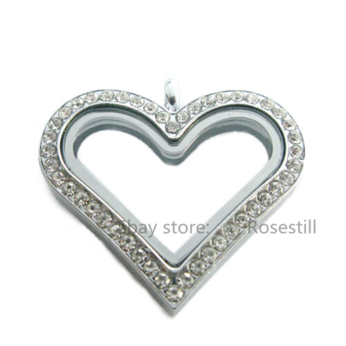 1pcs all kinds of Glass Floating Locket  Copy Stainless steel Pendant Locket