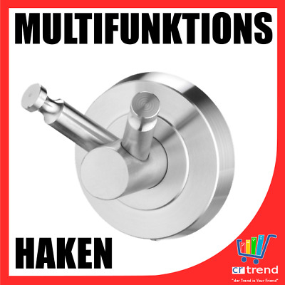 WOW Edelstahl Haken Multifunktionshaken Doppelhaken Bad WC Küche Nassrasierer .