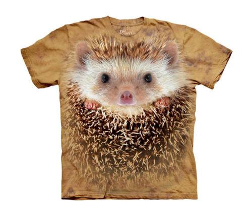 Hedgehog Face Close Up Animal Big Boys T-Shirt Tee