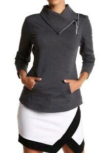 Jofit-Jumper-Jacket-Asymetrical-Foldover-Collar-Size-Small