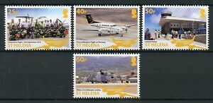 St-Helena-2018-MNH-Airport-Project-III-4v-Set-Helicopters-Planes-Aviation-Stamps