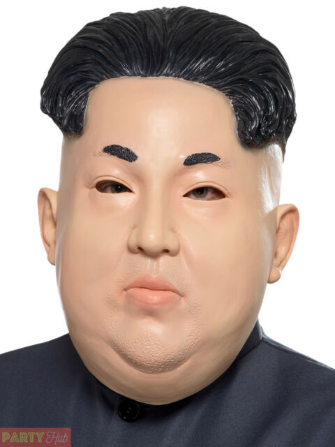 Adults Dictator Mask Mens Kim Jon-Un Fancy Dress Accessory North Korea Halloween
