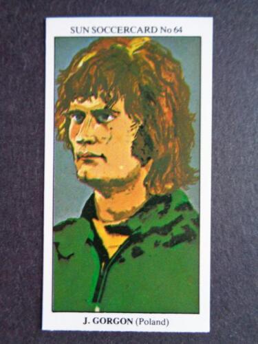 The Sun Soccercards 1978-79 Jerzy Gorgon Poland #64