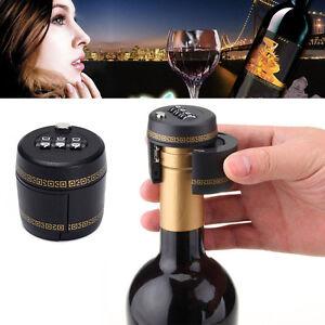 Plastic Bottle Combination Lock Password Lock Wine Stopper Vacuum