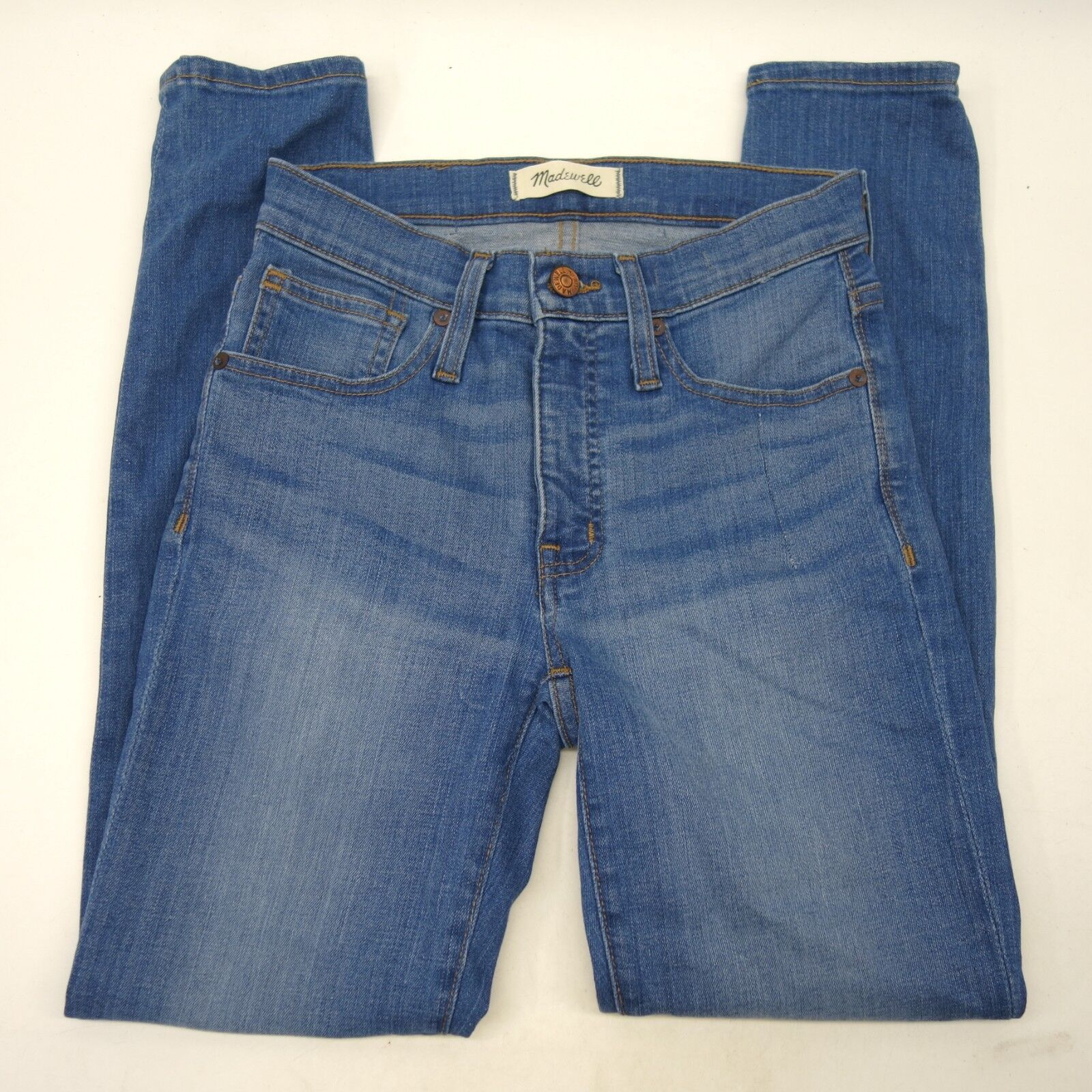 New Madewell The 9  High-Rise Slim Boyjean Skinny Crop in bluee 25 X 27