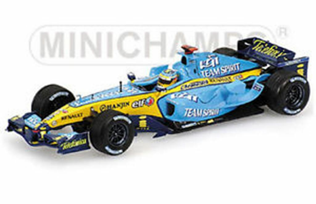 MINICHAMPS RENAULT F1 TEAM cars H KOVALAINEN, F ALONSO, G FISICHELLA 2006 1 43rd
