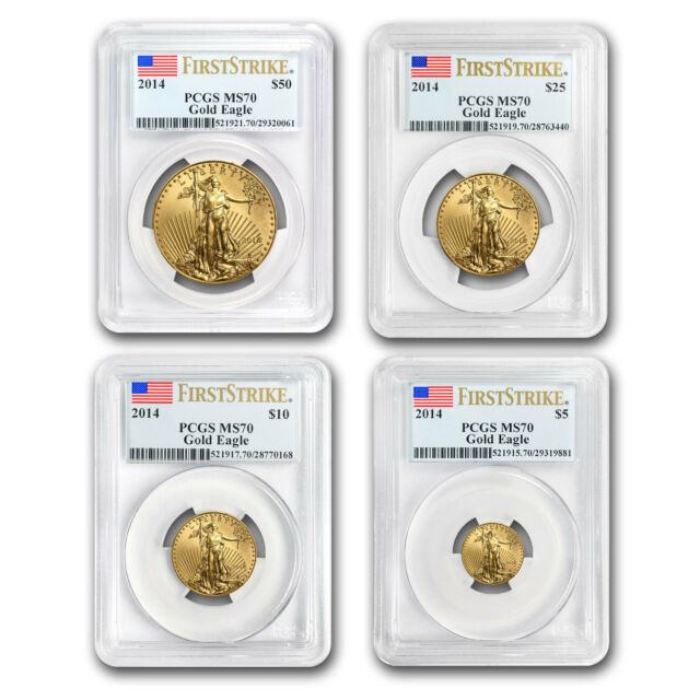 2014 Gold American Eagle 4 Coin Set - MS-70 First Strike PCGS - SKU #79336