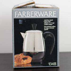 Vintage Farberware Superfast 2-4 Cup Coffee Percolator 134B VTG Retro