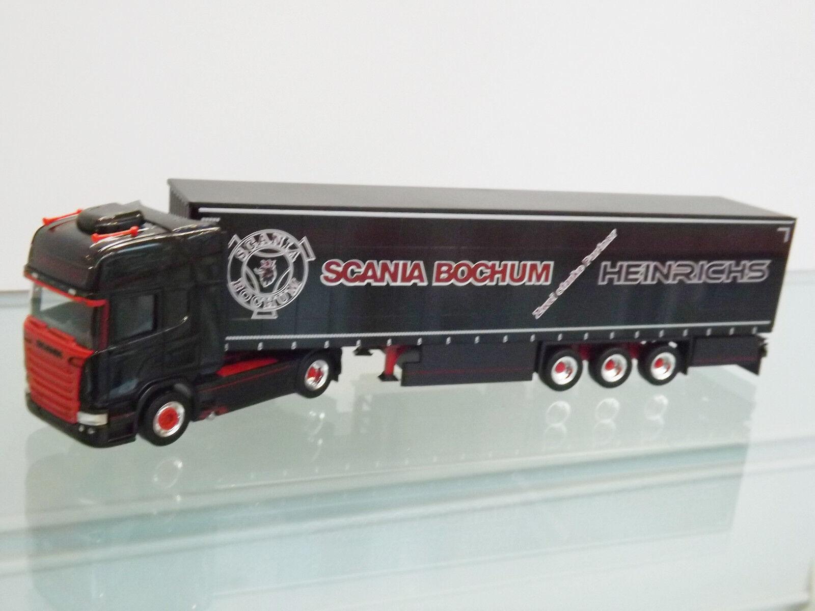 Herpa 306669 - 1 87 - Scania R TL rideaux planifier-SZ  de Henry  - NEUF dans neuf dans sa boîte