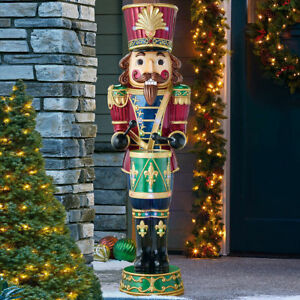 Christmas 6ft 1.80m Resin Nutcracker With 34 LED Lights *FREE NEXT DAY DELIVERY