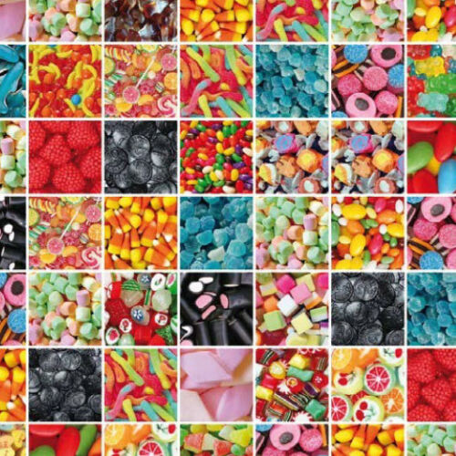 Lámina adhesiva Lámina autoadhesiva decorativas-diapositiva 12867 Candy caramelos multicolor 200x45cm