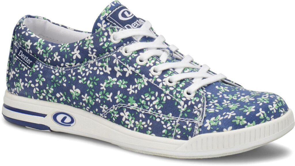 Dexter Katie Comfort Canvas Womens Bowling shoes bluee Floral