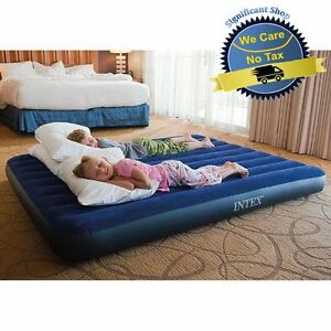 Intex Inflatable Airbed Queen Size Air Mattress Camping Waterproof