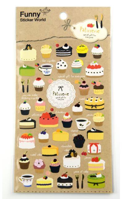 1 sheet Dessert cake coffee muffin scrapbook paper planner filofax sticker