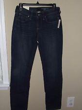 NWT Sonoma Sz 2 Denim Jeans Curvy Straight Mid Rise Dark Wash Fade Women Kohls