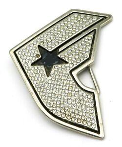 TAKES 4CM BELT BUFFALO USA STARS STRIPES FLAG WESTERN COWBOY BRASS BUCKLE