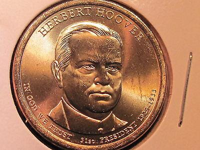 2014 P Mint Herbert Hoover Presidential Golden Dollar BU Gold $1 UNC Business