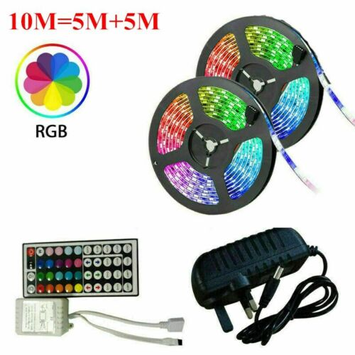 LED Strip Lights 10-15M 5050 RGB Dimmable TV Back Lighting+DC 12V Remote Control