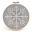 Counted-Cross-Stitch-Kit-with-Hoop-Beginner-Level-Christmas-Owl thumbnail 5