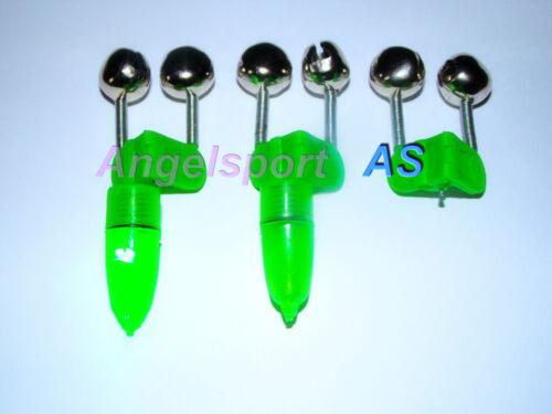 Aalglocke Doppelglocke mit Knicklichthalter oder LED Leuchte Bissanzeiger.