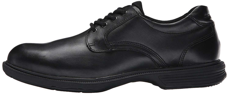 Florsheim 13263 Men's NDNS Plain Oxford (Black Waterproof Lthr, Slip Resistant)