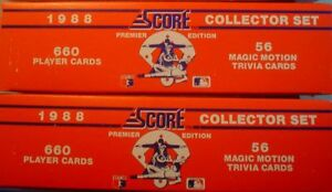 Details About 1988 Score Baseball Complete Sets 2 Set Lot