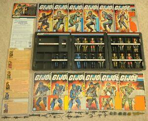 Lot Complete 1982 GI Joe Straight Arm v1 Figure Accessories & File Card Back Set
