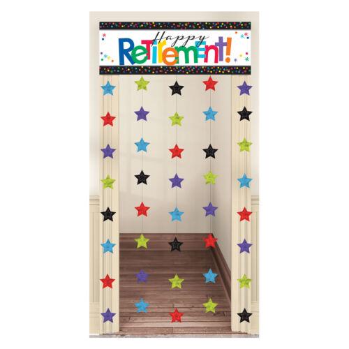 Heureuse retraite fête Décoration rideau de porte Porte Bannière 99 x 195 cm