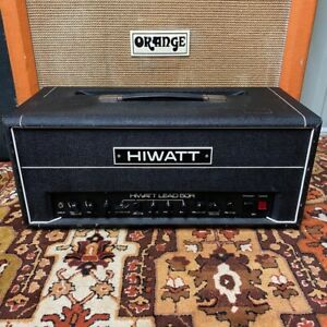 Vintage-1980s-Hiwatt-Lead-50-50R-UK-Valve-Amplifier-Head-Mullard
