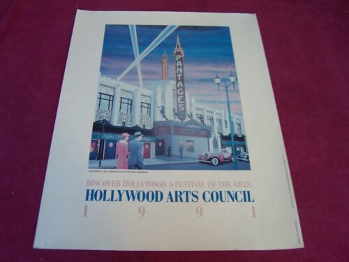 "MINT-1991 Hollywood Arts Council's,""FESTIVAL OF THE ARTS"" POSTER"