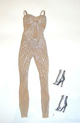 Barbie Fashion Sheer Sleeveless Jumpsuit For Model Muse Barbie Doll jl8