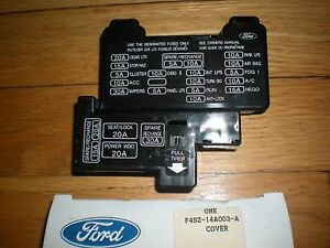 nos 1994 95 96 97 ford thunderbird fuse box cover ebay 97 Mustang Fuse Box image is loading nos 1994 95 96 97 ford thunderbird fuse