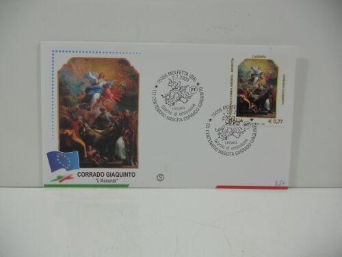 ITALIA 2003 - CORRADO GIAQUINTO L'ASSUNTA - FDC FILAGRANO - ANNULLO MOLFETTA