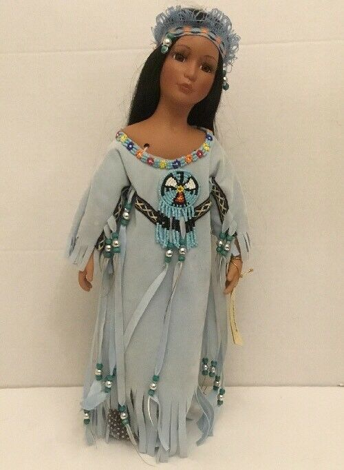 Show-Stoppers Collectible Porcelain Native American Doll Whispering Dove w  Tag